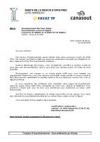 Formulaire pour raccordement SQB BAR