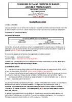 Reglement Interieur Accueils Periscolaires